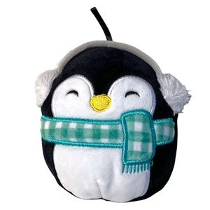 Squishmallow ornament penguin Christmas scarf 5 inch